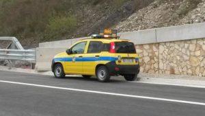 Autostrada A3 Salerno-Reggio Calabria, un mezzo dell'Anas