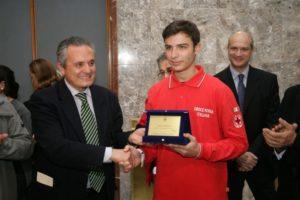 Cosenza: Claudio Nigro premia lo studente Spadafora