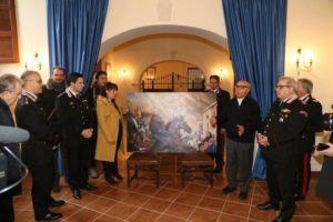 Donato all'Arma dei Carabinieri Cosenza copia dipinto Winchop