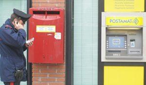 Carabinieri poste ufficio postale postamat