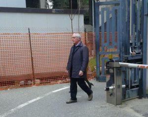 Sandro Principe arriva in tribunale a Catanzaro