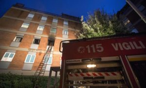 Incendi: fiamme in appartamento