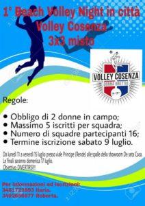 Beach volley in citta con la Volley Cosenza. Realizzato un campo estivo a Rende