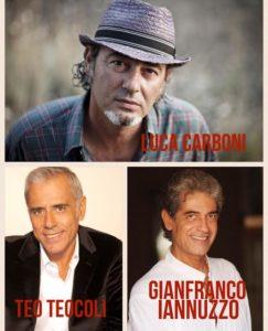 Settembre Rendesse, Luca Carboni, Teo Teocoli e Gianfranco Iannuzzo, il tris d'assi che emoziona