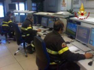 Sala operativa dei Vigili del fuoco