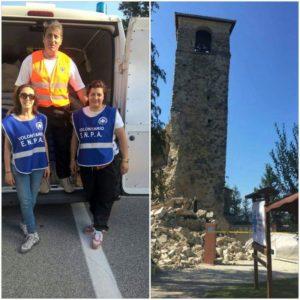 I volontari ENPA di Rende-Cosenza impegnati nelle zone terremotate