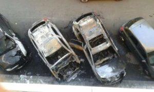 Incendiate tre auto a Cosenza